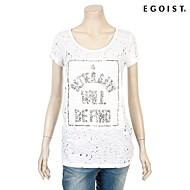 [에고이스트] 스팽글 자수 포인트 티셔츠 EF2CH661_WH