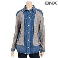 [BNX] 블루 밑단프린트배색 카라셔츠-BMADJ371F0_MG