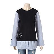 스트라이프 셔츠 배색 티셔츠 BOBBT637P1