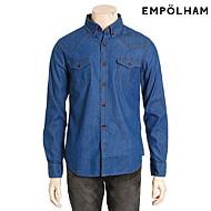 인디고 남성 베이직 데님 긴팔 셔츠-EPV5WC1204A_IN