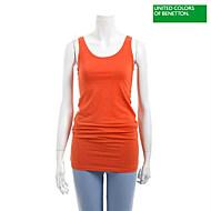 오렌지 민소매 롱 티셔츠-BATSB8431_OR