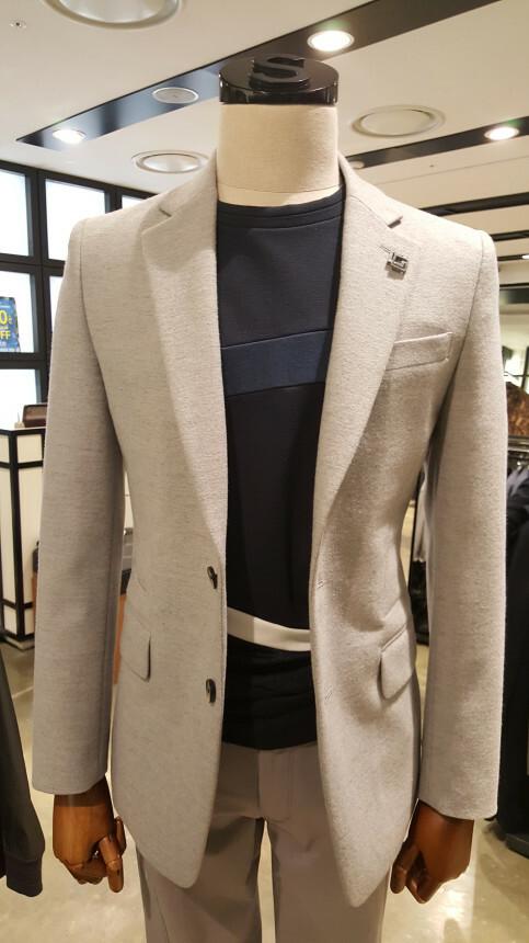 ZIOSONGZIO 16`F/W역시즌 재킷 균일가 순모100% 라이트그레이 슬렌더핏 슬림 재킷 ZRW24804
