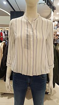 여성용 스트라이프 패턴 7부셔츠(10120-120-401-30)