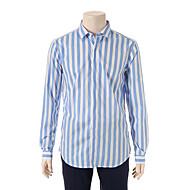 스카이블루 와이드 스트라이프 셔츠 E43SCD40-61