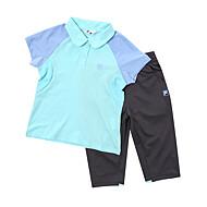 카라 티셔츠와 7부 하의 팬츠 세트 K2FTY056F