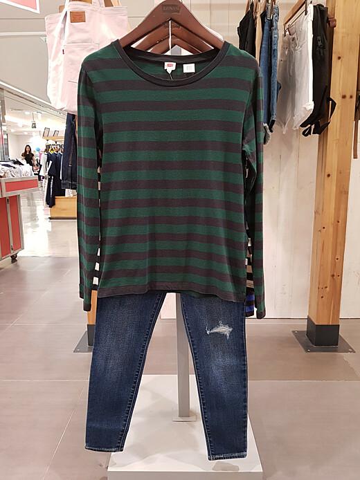 adf15f945b5 리바이스 여성 스트라이프 티셔츠(34764)