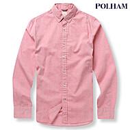 남성 심플 옥스포드 셔츠 - PHU3WC1073_RD