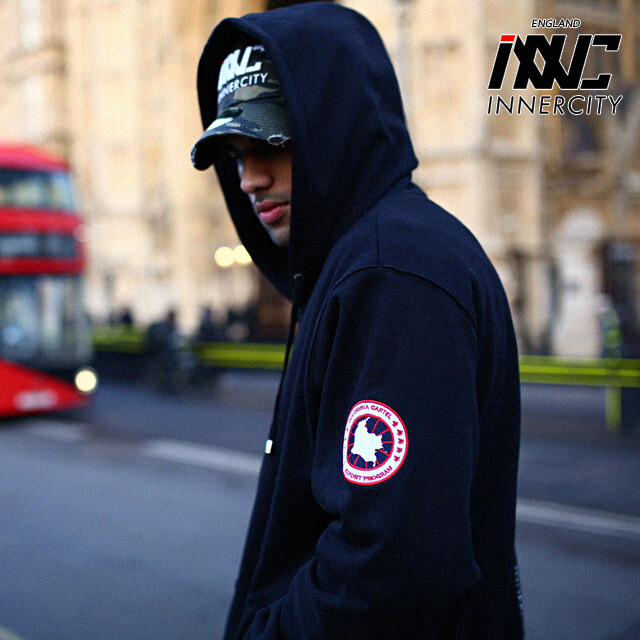 [INNERCITY]Taping Map patch hood zipup INNC-10008