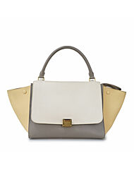 [중고] WhiteYellowGray Calfskin Trapeze Medium Womens Tote bag 169543 PC1200 BA0 0063