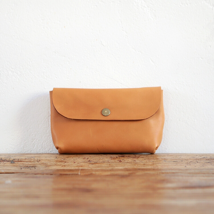 Basic Pouch_Camel(Italy Vegetable Leather) [YA039_CM]