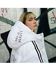NY Track Long Down Jacket White 21055_WHT