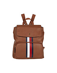 타미힐피거 Ella Pebble Flap Backpack Cognac